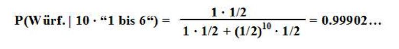 Bayes Formel 4